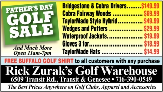 Father's Day Golf Sale