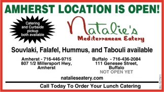 Amherst Location Is Open