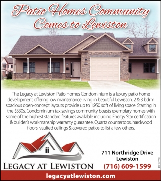 Patio Homes Community Comes to Lewister