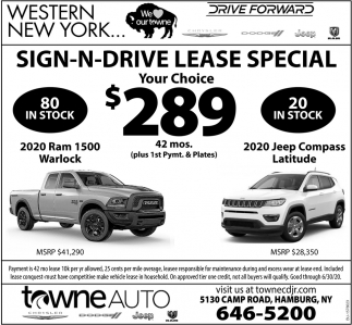 Sign-N-Drive Lease Special