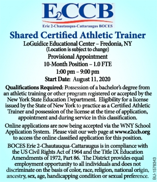 Shared Certified Athletic Trainer