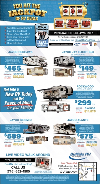 You Hit The Jackpot Of RV Deals