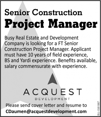 Senior Construction Project Manager