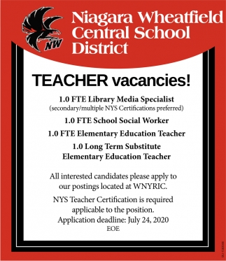 Teacher Vacancies