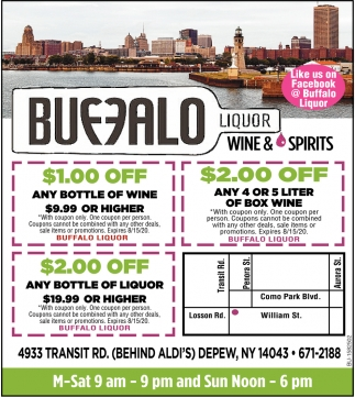 $1.00 OFF Anny Bottle of Wine
