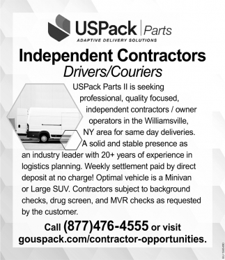 Drivers/Couriers