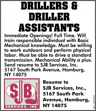 Drillers & Driller Assistants