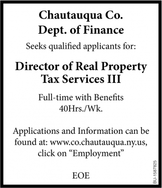 Director of Real Property Tax Services III