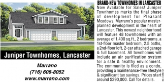 Brand-New Townhomes In Lancaster
