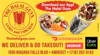 We Deliver & Do Takeout!