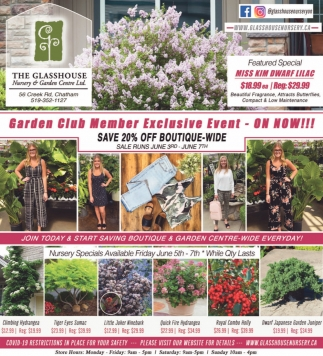 Garden Club Member Exclusive Event