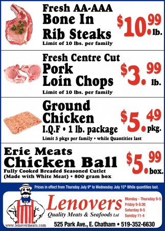 Erie Meats Chicken Ball