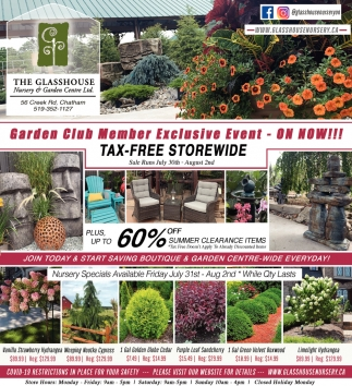 Garden Club Member Exclusive Event - ON NOW!!!
