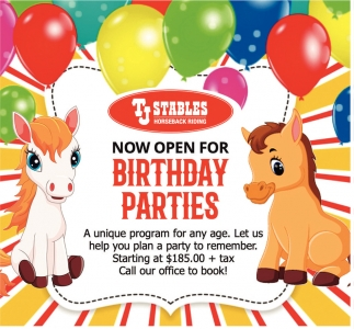 Now Open For Birthday Parties