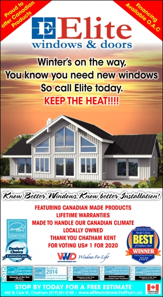 Winter's On The Way, Your Know You Need New Windows
