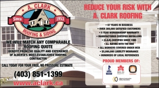 Reduce Your Risk With A. Clark Roofing