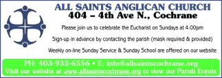 Please Join Us To Celebrate The Eucharist On Sundays At 4:00PM