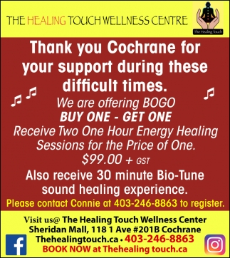 Thank You Cochrane For Your Support During These Difficult Times