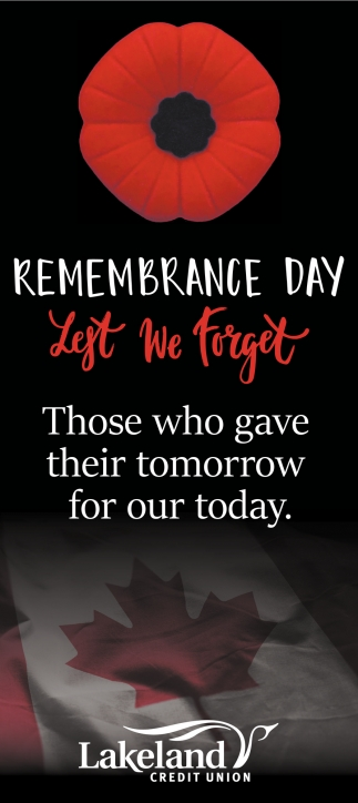 Remembrance Day We Forget those Who Gave Their Tomorrow for Our Today
