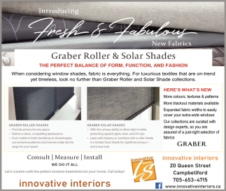 Introducing Fresh & Fabulous Graber Roller & Solar Shades