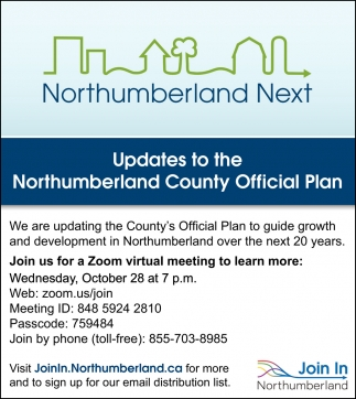 Updates to the Northumberland County Official Plan
