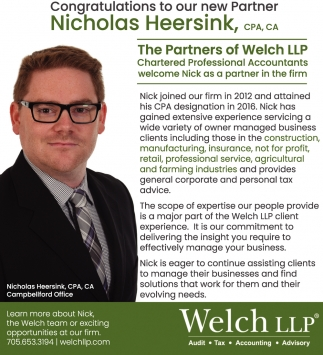Congratulations to Our New Partner Nicholas Heersink