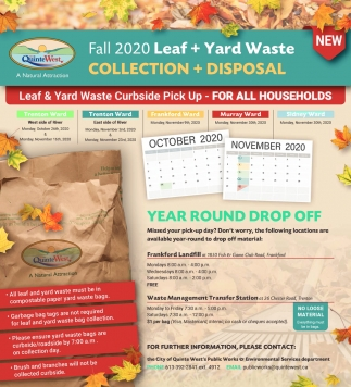 Fall 2020 Leaf + Yard Waste
