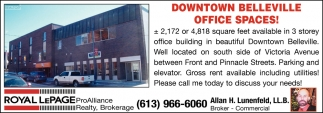 Downtown Belleville Office Spaces!