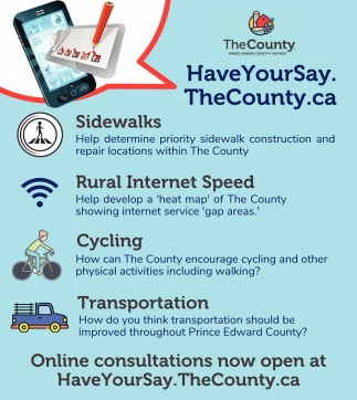 Online Consultations Now Open at HaveYourSay.TheCounty.ca