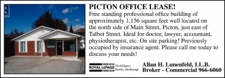 Picton Office Lease!