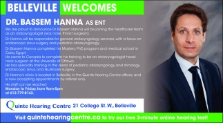 Belleville Welcomes Dr. Bassem Hanna