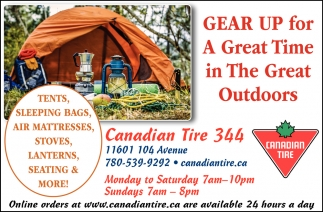 Gear Up for a Great Time in The Great Outdoors