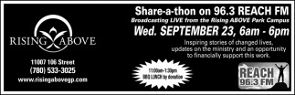 Share-a-thon On 96.3 Reach FM