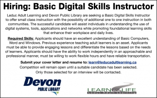 Hiring: Basic Digital Skills Instructor