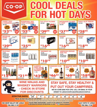 Cool Deals For Hot Days