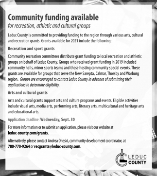 Community Funding Available
