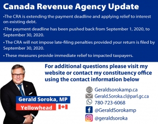 Canada Revenue Agency Update