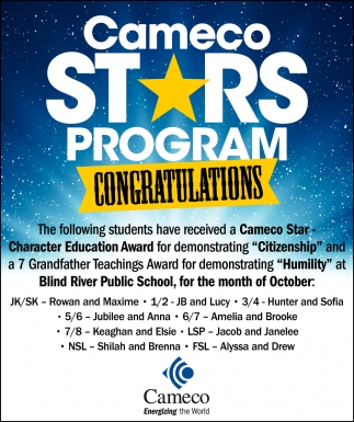 Cameco Stars Program Congratulations