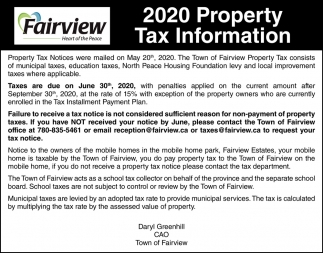 2020 Property Tax Information