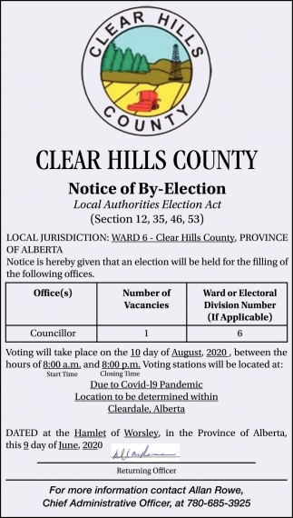 Notice of By-Election