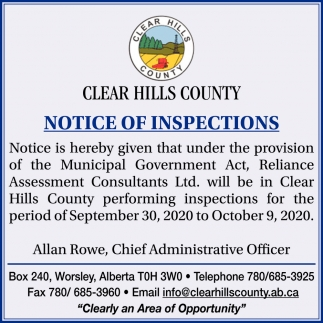 Notice of Inspections