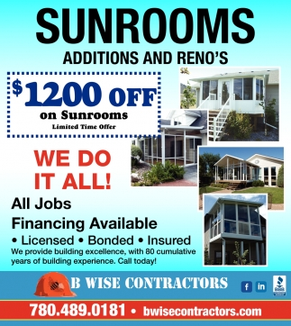 Sunrooms Additions And Reno's