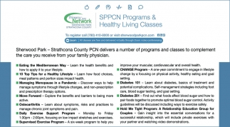 SPPCN Programs & Healthy Living Classes
