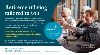 Retirement Living Tailored To You