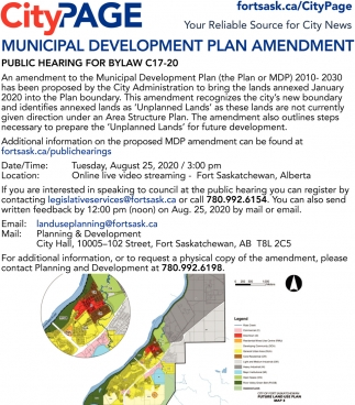 Municipal Development Plan Amendment