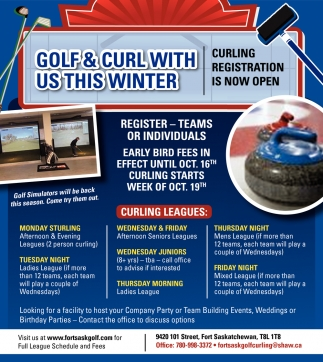 Golf & Curl With Us This Winter
