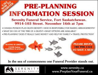 Pre-Planning Information Session