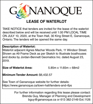 Lease of Waterlot