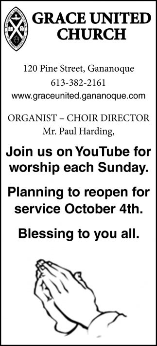 Join Us On YouTube for Worship Each Sunday