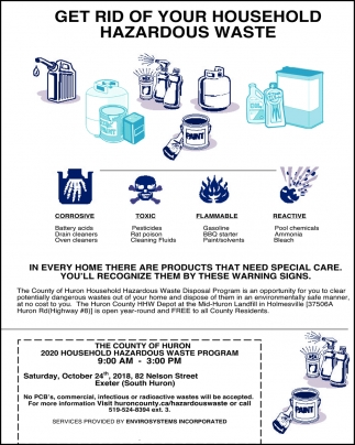 Get Rid Of Your Household Hazardous Waste